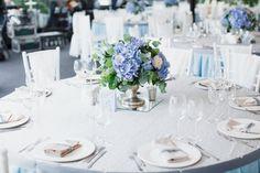 Оттенки пыльно-голубого и серого. Свадьба Натальи и Дмитрия