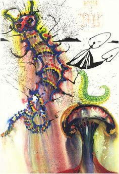 Salvador Dali illustrates Alice in Wonderland 1969