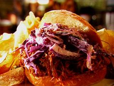 Pulled Pork Sandwich recipe from Tyler Florence via Food Network