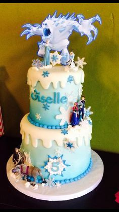 frozen cake disney frozen birthday disney s olaf cake blue cakes ...