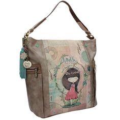 Anekke Nature Τσάντα χειρός ώμου μεγάλη Fashion Bags, Messenger Bag, Satchel, Shoulder Bag, Purses, Business, Style, Spring Summer, Totes