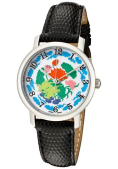 Price:$55.07 #watches Croton CN207372BSDW, Women's flower pattern dial watch.