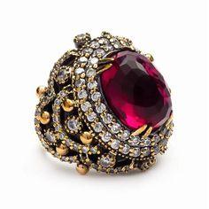 Ottoman Palace Turkish Artisan Ring by GrandBazaarJewelers.com