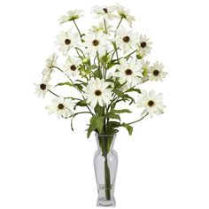 These wonderful blooms of this White Cosmos silk flower arrangement bring realism and beauty to your decor from ExcellentSilkFlowers.com.