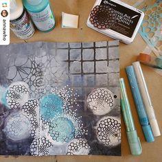 We love this work in progress by @annawho! Wow! #stencilgirl