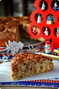Κέικ βασιλόπιτα γεμιστή Xmas Food, Christmas Cooking, Christmas Desserts, Christmas Treats, Greek Sweets, Greek Desserts, Greek Recipes, Greek Bread, Greek Cake