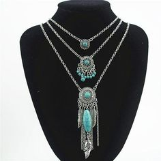 Silver & Turquoise Layered Dream Catcher