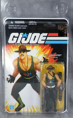 SDCC Exclusive GI Joe 25th Sgt Slaughter USA WWE MOC - Free Shipping!!