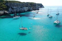 Cala Macarella - Spain (island of Menorca (Mediterranean Sea)) Dream Vacations, Vacation Spots, Ibiza, Places To Travel, Places To See, Wonderful Places, Beautiful Places, Amazing Places, Places Around The World