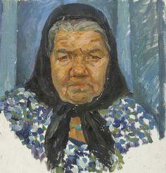Portraits of old people. Oil Paintings by Permyakov Sergey, via Behance