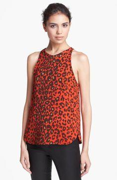 A.L.C. 'Anise' Leopard Print Silk Top on shopstyle.com
