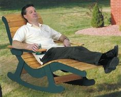 Chaise Lounge Rocker Woodworking Plan A Chaise Lounge rocker! Can it get any better!?! The Chaise Lounge Rocker is the perfect outdoor piece to relax away your cares! It's even got drink holders! NOTH