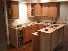 Can you believe this is a renovated basement kitchen?  It's equally beautiful and functional  #ryobination  #diy