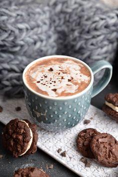 Salted Caramel Hot Chocolate, Hot Chocolate Recipes, Vanilla Chai Tea, Half Baked Harvest, But First Coffee, Coffee Recipes, Dessert Recipes, Desserts, Peanut Butter