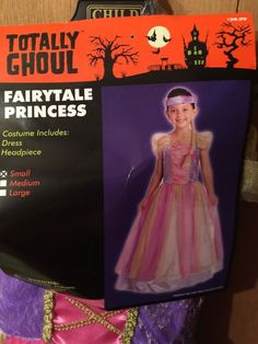 Fairytale Princess Dress Costume Girls Size Small by Totally Ghoul Pink Purple  #TotallyGhoul #CompleteOutfit