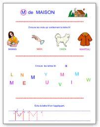 Lettre M en majuscule d'imprimerie