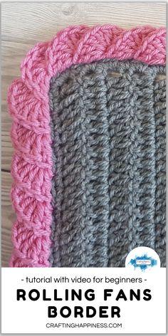 Crochet Baby Blanket Borders, Crochet Border Patterns, Crochet Boarders, Crochet Lace Edging, Crochet Designs, Crochet Hooks, Crochet Blanket Stitches, Crochet Edges For Blankets, Crochet For Beginners Blanket