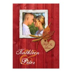 Discount DealsFAUX Wood, Leaves, Heart, Wheat PHOTO Wedding Personalized Invitationlowest price for you. In addition you can compare price with another store and read helpful reviews. Buy