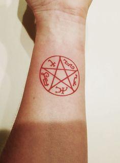 Supernatural - Devil's Trap Pentagram - Temporary Tattoo
