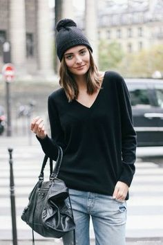 sweetness | Street Style, Accessories, Casual, Cool, Style, Model, Fashion, Balenciaga, Beanie, Jeans