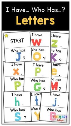 Alphabet Letters I Have… Who Has…? Capital and Lowercase Match Fun letter name game for preschool and kindergarten: I Have. match capital and lowercase letters - Kindergarten Lesson Plans Kindergarten Lesson Plans, Kindergarten Lessons, Kindergarten Literacy, Literacy Activities, Alphabet Activities, Preschool Learning Games, Alphabet Games For Kindergarten, Literacy Stations, Toddler Learning