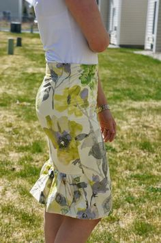 Ruffled Pencil Skirt Pattern - Make a pencil skirt pattern that you are going to love to wear.