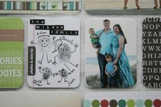 Thumbprint family - such a cute idea that could be done every year as the kids grow