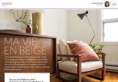 Ma vie en beige - La Presse+ Decoration, Splash Of Color, Life, Home, Decor, Decorating, Decorations, Dekoration, Ornament
