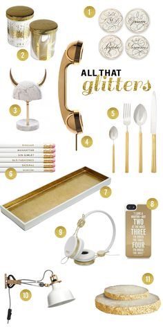 Buying Guide: All That Glitters. White Office DecorGold Office AccessoriesGold  ...