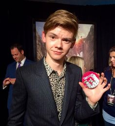Thomas at the Scorch trials premiere in New York! He looks so good in leopard print
