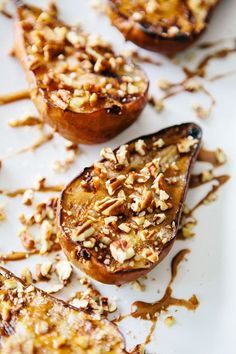 Grilled pears with cinnamon drizzle via A House in the Hills