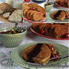 #BomDia! Huumm, temos no café da manhã deliciosas Rabanada Light de Pão Integral (assada) e fáceis!  23 Receitas Doces, Deliciosas e Saudáveis para a Ceia de Natal!  Receitas nos links => http://www.gulosoesaudavel.com.br/2015/12/19/receitas-doces-deliciosas-saudaveis-para-ceia-natal/
