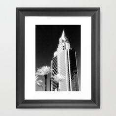 """New York in Paradise"" ~ black and white infrared print 10"" x 12"" framed ~ $37"