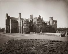 """Exterior of large stately home of J. Known as """"Dawpool"""" at Thurstaston on the Wirral Titanic Photos, Rms Titanic, Lady Lever Art Gallery, Victorian Castle, Liverpool History, New Brighton, Tudor House, Monument Valley, Exterior"""