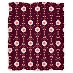Retro Flower Pattern Blanket #retro #flower #design #pattern #blanket #cozy #cute #trendy