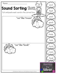 Sound sorting and other fun and hands-on literacy printables for spring!!