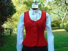 """Westen - Weste """"Graziella"""" aus Walkloden - ein Designerstück von hofatelier-mode bei DaWanda"""