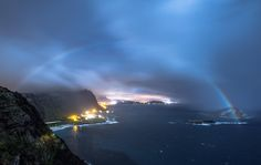 Moonbow is a rainbow generated by moonlight, Hawaii is one of the few places in the world where it can be seen.
