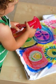 Color Spray-Science Through Art for Kids - Kids Activities Blog