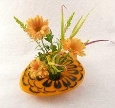 Ikebana Flower Vase with Kenzan Feather design by ToltRiverStudios, $68.00