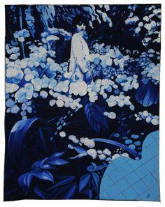 Jacques Monory, Velvet Jungle n°1, Tapisserie des Gobelins, 2012   Photo : Mobilier national/Isabelle Bideau