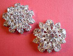 Weddings, Shoe Clips, Bridal Accessories, Floral Shoe Clips