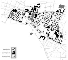 Figure ground map of Glasgow East End - Rowe style