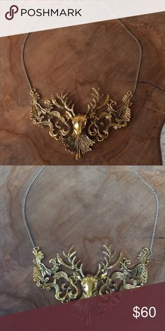 Woodland forest magical deer necklace Super fun, deer necklace Jewelry Necklaces