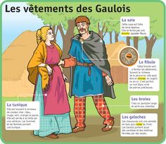 Fiche exposés : Les vêtements des Gaulois                                                                                                                                                                                 Plus Ap French, Study French, French History, European History, Learn French, Ancient History, French Stuff, French Phrases, French Words