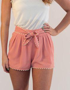 Pink Bow Shorts