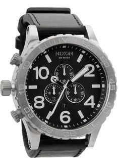 $375  51-30 Chrono Leather Black  http://tictimetrends.com/shop/nixon/51-30-chrono/51-30-chrono-leather-black.html