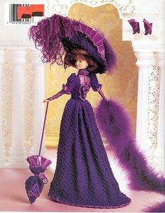 Paradise Crochet Doll Pattern 1899 Showboat Costume Vol 16