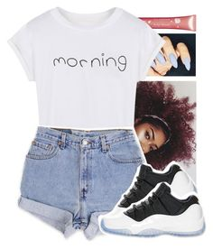 """""""Untitled #300"""" by xxsaraxtaraxx ❤ liked on Polyvore featuring Clarins, WithChic, Levi's and Retrò"""