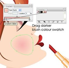 how to add blush effect in Adobe Illustrator